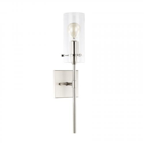 Montreal Clear Glass Wall Sconce