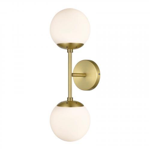 Zeno Globe 2-Light Wall Sconce