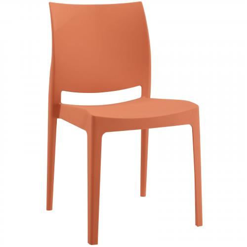 Scoot Dining Chair in Orange