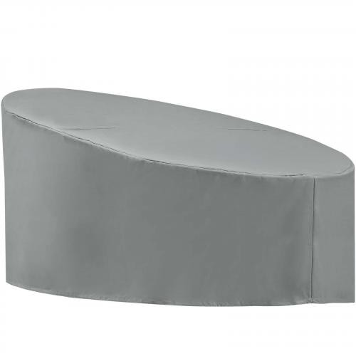 Immerse Siesta and Convene Canopy Daybed Outdoor Patio Furniture Cover in Gray