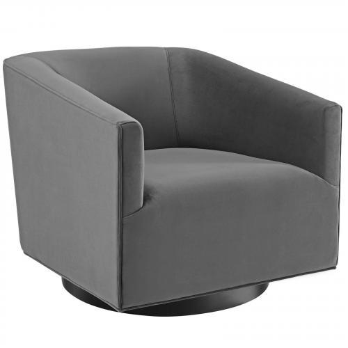 Twist Accent Lounge Performance Velvet Swivel Chair