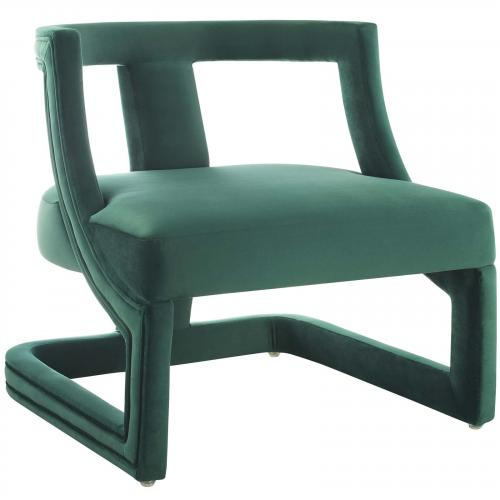 Requisite Accent Lounge Performance Velvet Armchair