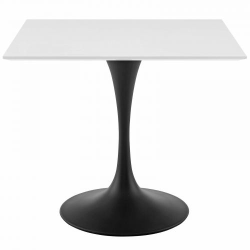 "Lippa 36"" Square Wood Top Dining Table in Black White"