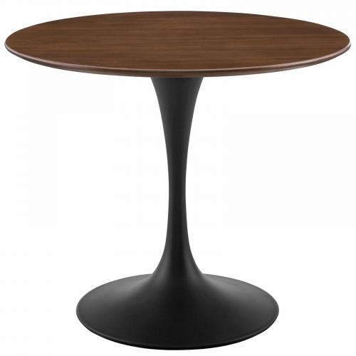 "Lippa 36"" Round Walnut Dining Table in Black Walnut"