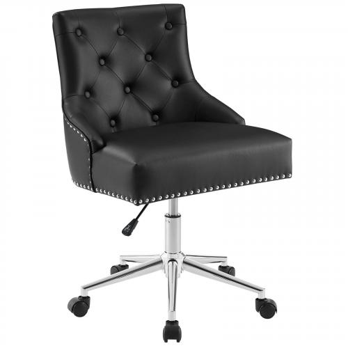 Regent Tufted Button Swivel Faux Leather Office Chair
