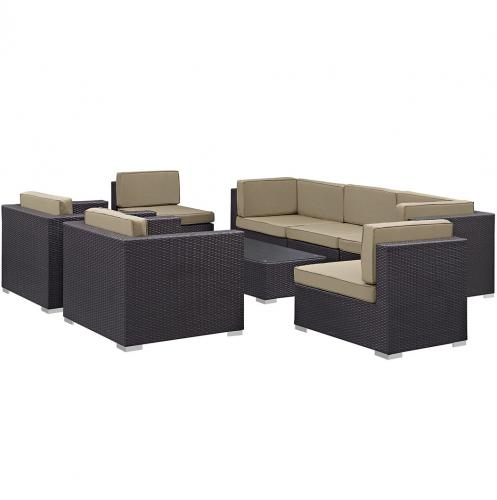Gather 8 Piece Outdoor Patio Sectional Set