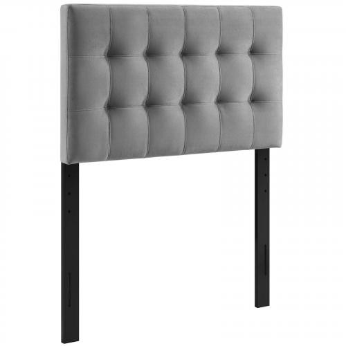 Lily Biscuit Tufted Twin Performance Velvet Headboard