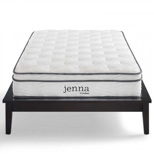 "Jenna 8"" Queen Innerspring Mattress in White"