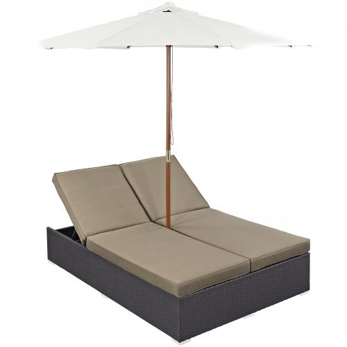 Convene Double Outdoor Patio Chaise