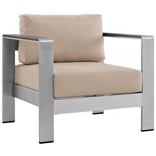 Shore Outdoor Patio Aluminum Armchair