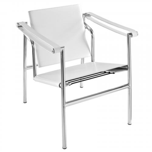 Le Corbusier Style LC1 Sling Chair - Leather