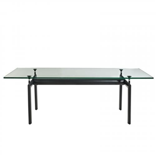 Le Corbusier Style LC6 Dining Glass Table
