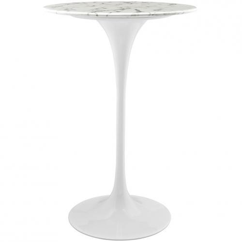 "Lippa 28"" Marble Bar Table"